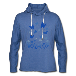 Butterfly Shirts Women's Blue Butterfly Hoodie - Unisex Lightweight Terry Hoodie