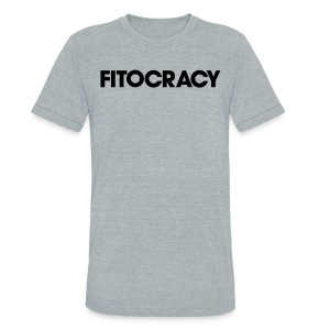 Fitocracy - Logo - Men's Gray Vintage Tee - Unisex Tri-Blend T-Shirt by American Apparel
