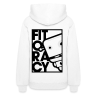 Hoodies ~ Women's Hoodie ~ Fitocracy - FRED White Graphic - Women's White Hoodie