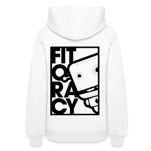 Fitocracy - FRED White Graphic - Women's White Hoodie - Women's Hoodie
