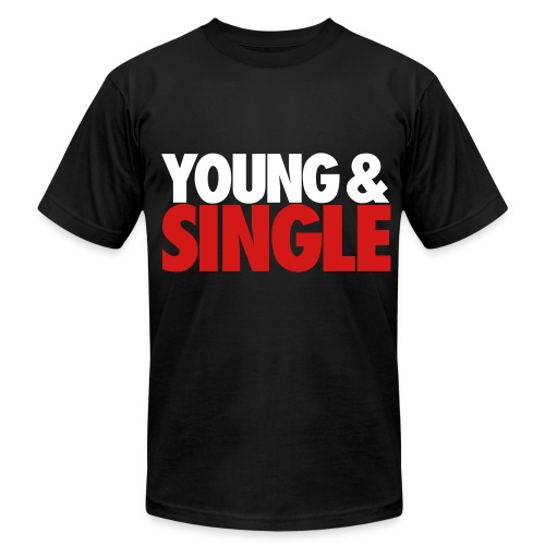 YOUNG & SINGLE - Men's Fine Jersey T-Shirt