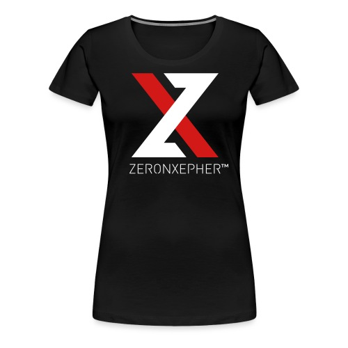 NEW ZeronXepher Official T-Shirt [Red Ver] - Women's Premium T-Shirt