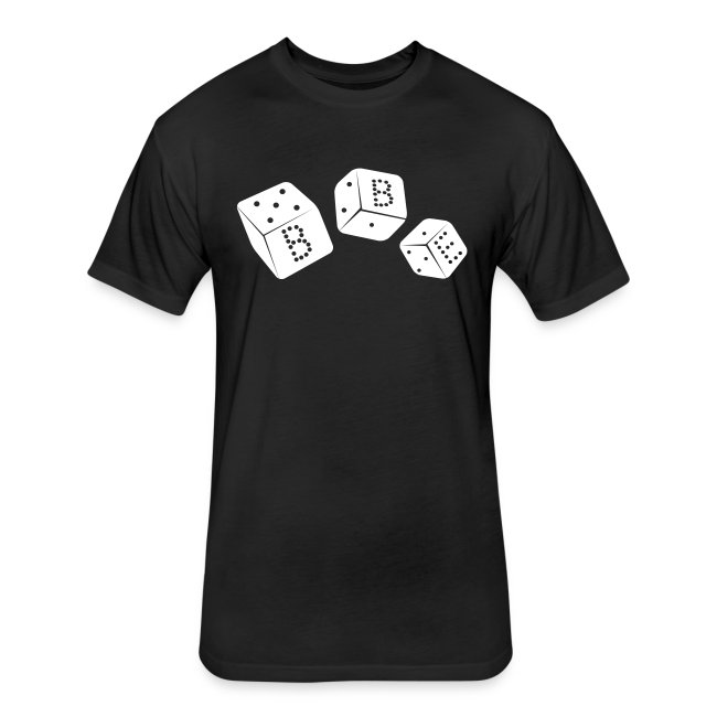 Men's Fitted BBE T-Shirt (white dice)