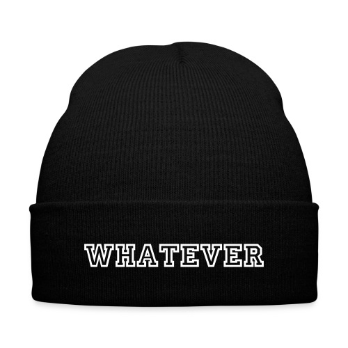 As worn by Cara Delevingne - WHATEVER beanie hat - Knit Cap with Cuff Print