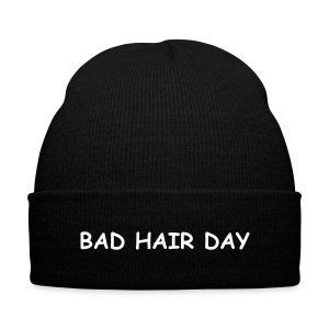 As worn by Cara Delevingne - BAD HAIR DAY beanie hat - Knit Cap with Cuff Print