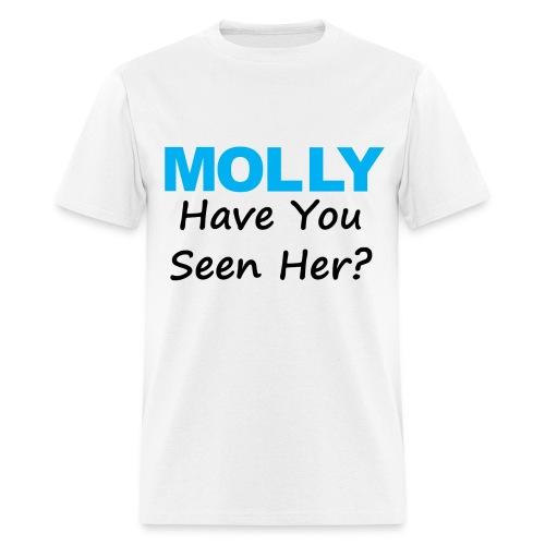 Molly - Neon Blue - Men's T-Shirt