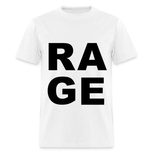 Rage - White - Men's T-Shirt