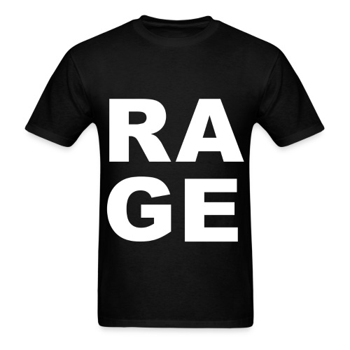 Rage - Black - Men's T-Shirt