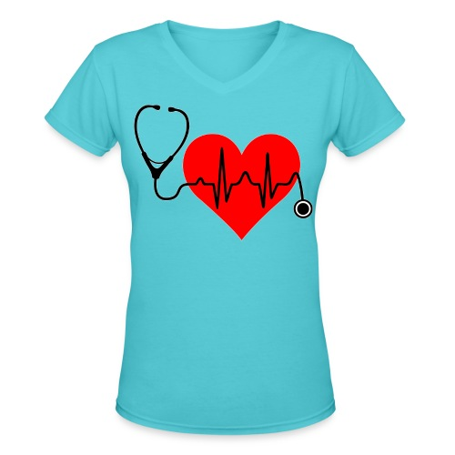 i love Medicine - ladies - Women's V-Neck T-Shirt