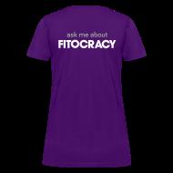 Women's T-Shirts ~ Women's T-Shirt ~ Fitocracy - Ask Me About - Women's Purple Regular Tee