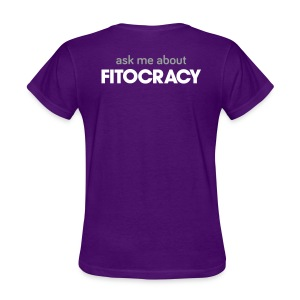 Fitocracy - Ask Me About - Women's Purple Regular Tee - Women's T-Shirt