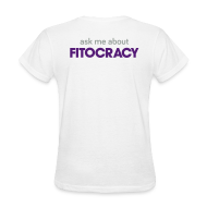 Women's T-Shirts ~ Women's T-Shirt ~ Fitocracy - Ask Me About - Women's White Regular Tee