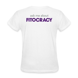 Fitocracy - Ask Me About - Women's White Regular Tee - Women's T-Shirt