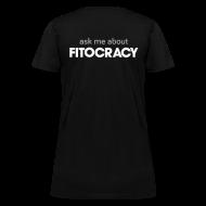 Women's T-Shirts ~ Women's T-Shirt ~ Fitocracy - Ask Me About - Women's Black Regular Tee