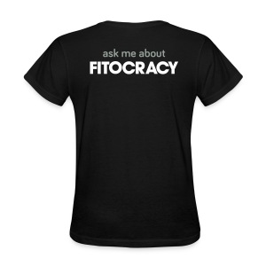 Fitocracy - Ask Me About - Women's Black Regular Tee - Women's T-Shirt