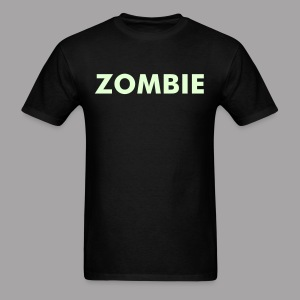 Glow In The Dark Zombie text Men's Horror T Shirt - Men's T-Shirt