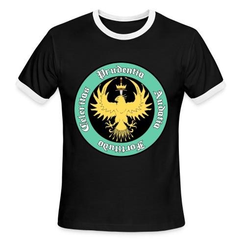 Resurgam HEMA Men's Ringer Tee - Black/White - Men's Ringer T-Shirt