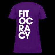 Women's T-Shirts ~ Women's T-Shirt ~ Fitocracy - Syllable - Women's Purple RegularTee