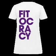 Women's T-Shirts ~ Women's T-Shirt ~ Fitocracy - Syllable - Women's White RegularTee