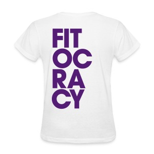 Fitocracy - Syllable - Women's White RegularTee - Women's T-Shirt