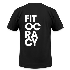 Fitocracy - Syllable - Men's Black Regular Tee - Men's T-Shirt by American Apparel