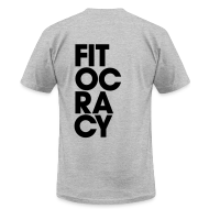 T-Shirts ~ Men's T-Shirt by American Apparel ~ Fitocracy - Syllable - Men's Gray Regular Tee