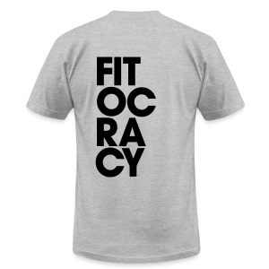 Fitocracy - Syllable - Men's Gray Regular Tee - Men's T-Shirt by American Apparel