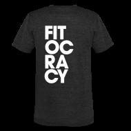 T-Shirts ~ Unisex Tri-Blend T-Shirt ~ Fitocracy - Syllable - Men's Black Vintage Tee