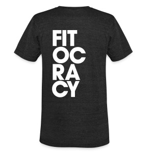 Fitocracy - Syllable - Men's Black Vintage Tee - Unisex Tri-Blend T-Shirt by American Apparel