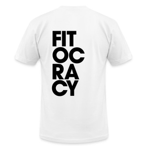 Fitocracy - Syllable - Men's White Regular Tee - Men's T-Shirt by American Apparel