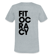 T-Shirts ~ Unisex Tri-Blend T-Shirt ~ Fitocracy - Syllable - Men's Gray Vintage Tee