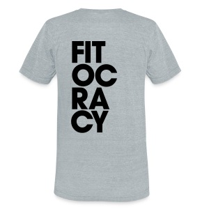 Fitocracy - Syllable - Men's Gray Vintage Tee - Unisex Tri-Blend T-Shirt by American Apparel