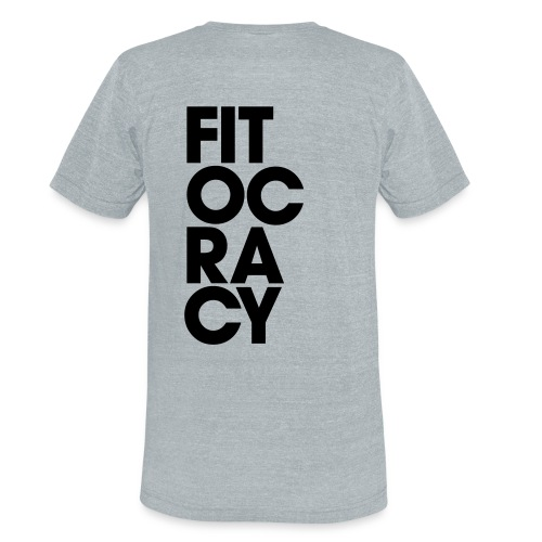 Fitocracy - Syllable - Men's Gray Vintage Tee - Unisex Tri-Blend T-Shirt
