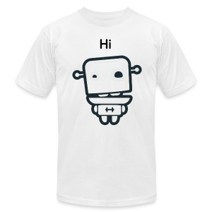Fitocracy - FRED Hi - Men's White Regular Tee - Men's T-Shirt by American Apparel