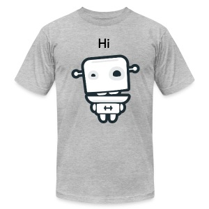 Fitocracy - FRED Hi - Men's Gray Regular Tee - Men's T-Shirt by American Apparel