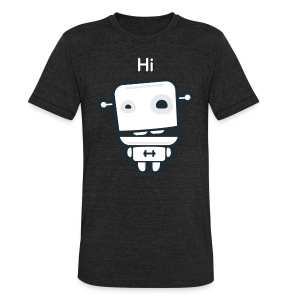 Fitocracy - FRED Hi - Men's Black Vintage Tee - Unisex Tri-Blend T-Shirt by American Apparel