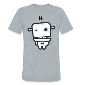 Fitocracy - FRED Hi - Men's Gray Vintage Tee - Unisex Tri-Blend T-Shirt by American Apparel