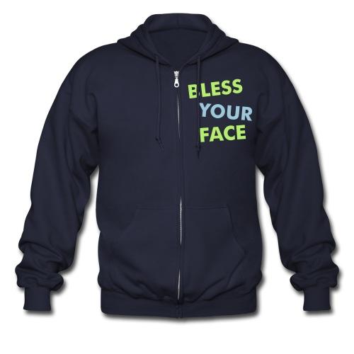 Bless Your Face Zip Hoodie - Men's Zip Hoodie
