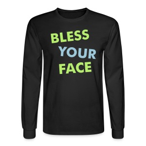 Bless Your Face/Peace Off (two-sided) - Men's Long Sleeve T-Shirt