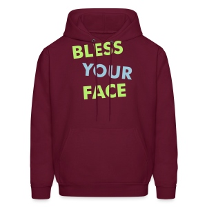 Bless Your Face/Peace Off (two-sided) - Men's Hoodie