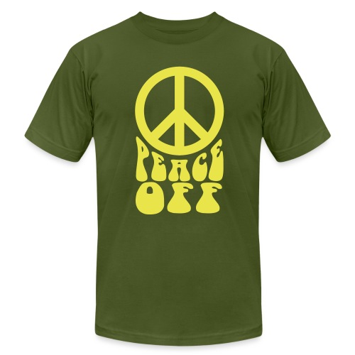 Peace Off! - AMERICAN APPAREL - Men's T-Shirt by American Apparel