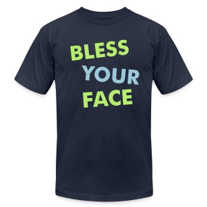 BLESS YOUR FACE - AMERICAN APPAREL - Men's T-Shirt by American Apparel
