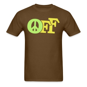 PEACE OFF (2 color customizeable!) - Men's T-Shirt