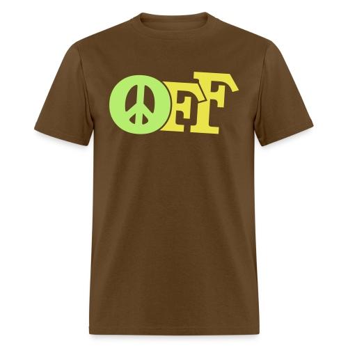 PEACE OFF (2 color customizeable!) - Men's T-Shirt