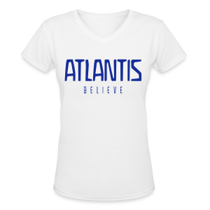 ATLANTIS BELIEVE - Women's V-Neck T-Shirt