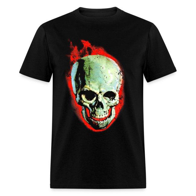 The Screaming Skull Men's Horror Movie T Shirt