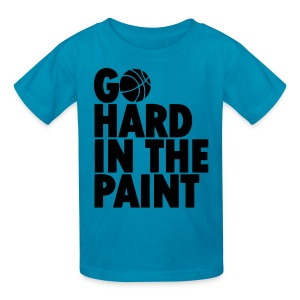 Go Hard in the Paint Basketball Shirt - Kids' T-Shirt