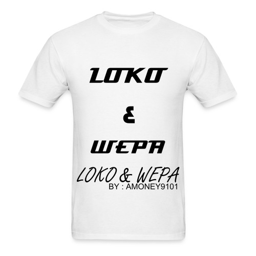LOKO & WEPA - WHITE - Men's T-Shirt