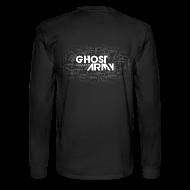 Long Sleeve Shirts ~ Men's Long Sleeve T-Shirt ~ GhostArmy Long-sleeve, white on black.
