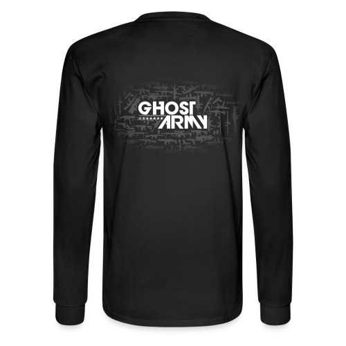 GhostArmy Long-sleeve, white on black. - Men's Long Sleeve T-Shirt